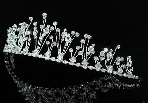 Bridal Wedding Pageant Sparkling Crystal Tiara T1230