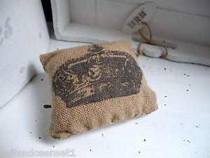 briefbeschwerer deko krone vintage jute kissen dekokissen schrift shabby chic ebay. Black Bedroom Furniture Sets. Home Design Ideas