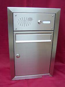 briefkastenanlage unterputz mauer briefkasten postkasten. Black Bedroom Furniture Sets. Home Design Ideas