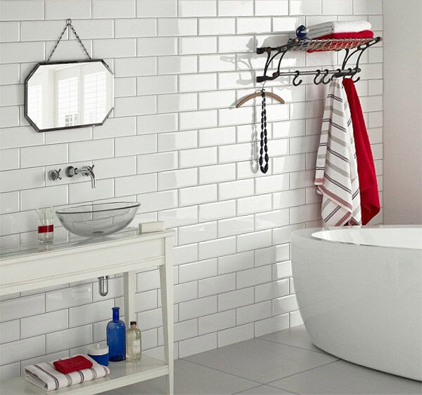 Wonderful White Gloss Metro Brick Tiles For Low Cost Bathroom And Kitchen Walls Create A Retro Look With Premium Ceramics From Tilesporcelain We Provide A Huge Selection Of High Quality Tiles To Choose From Browse Through Our Large Collection Of