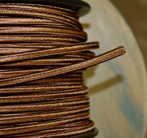 Brown 2-Wire Cloth Covered Cord 18ga Vintage Style Lamp Lights Antique Fan Rayon in Collectibles, Lamps, Lighting, Lamp Repair, Refurbishing | eBay