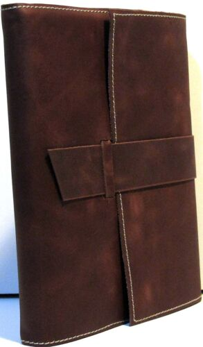 Brown Handmade Paper & Leather 6x8 Journal Refillable with Strap Closure in Books, Accessories, Blank Diaries & Journals | eBay