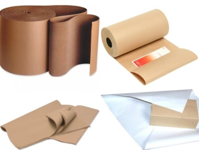 Brown kraft wrapping paper rolls sheets corrugated for Brown craft paper rolls