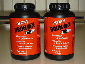 brunox epoxy 2 x 1 liter rostumwandler rostsanierer. Black Bedroom Furniture Sets. Home Design Ideas
