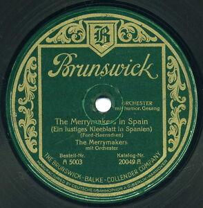 """Brunswick 5003 A """"The Merrymakers"""" - Schellackplatte 30cm Deutsche Pressung 1926 - 13159 Berlin, Deutschland - Brunswick 5003 A """"The Merrymakers"""" - Schellackplatte 30cm Deutsche Pressung 1926 - 13159 Berlin, Deutschland"""