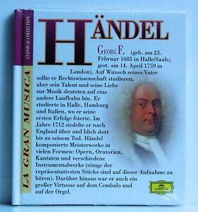 Buch-CD-La-Gran-Musica-Classical-Collection-Haendel-2-Deutsche-Grammophon-neu