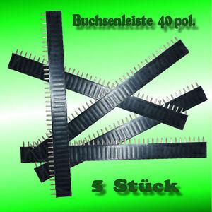 Buchsenleiste-40pol-Pinheader-female-5-Stueck-Schnellversand