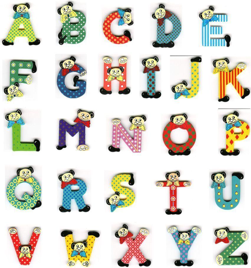 buchstaben bunt aus holz  holzbuchstaben für kinderzimmer