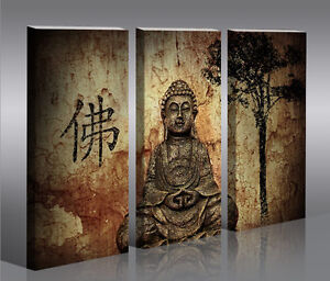 buddha v10 bild bilder auf leinwand wandbild poster ebay. Black Bedroom Furniture Sets. Home Design Ideas