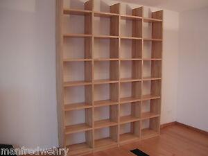b cherregal buche massiv ge lt wandregal massivholz regal holzregal eiche ahorn ebay. Black Bedroom Furniture Sets. Home Design Ideas