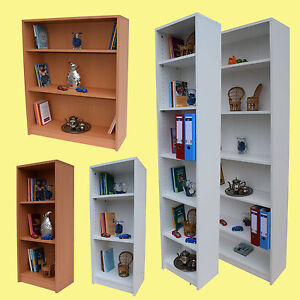 b cherregal mehrzweckregal aktenregal regal weiss buche schmal breit cs schmal ebay. Black Bedroom Furniture Sets. Home Design Ideas