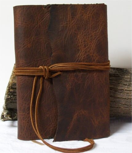 Buffalo Leather Journal, Planner, Diary, Notebook, Agenda 9.5X6 Handmade Brown in Books, Accessories, Blank Diaries & Journals | eBay