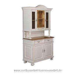 buffet buffetschrank k chen schrank weichholz landhausm bel stil massiv wei ebay. Black Bedroom Furniture Sets. Home Design Ideas