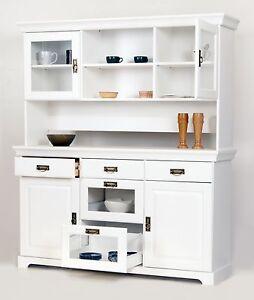 buffet kiefernholz wei lackiert schrank vitrine. Black Bedroom Furniture Sets. Home Design Ideas