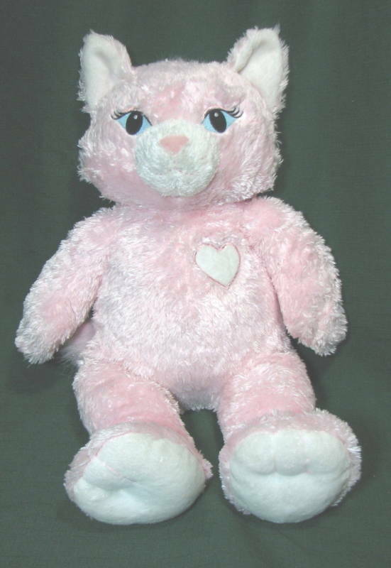 7d381455a3b Build A Bear Workshop Pink Cat White Heart Plush Toy on PopScreen