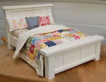 "Build Farmhouse Style Bed for 18"" Dolls (esp. American Girl & Maplelea) DIY Plan in Everything Else, Information Products, Other 