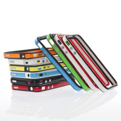 Bumper Frame Silicone Skin Case With Side Button For iPhone 4S in Cell Phones & Accessories, Cell Phone Accessories, Cases, Covers & Skins | eBay