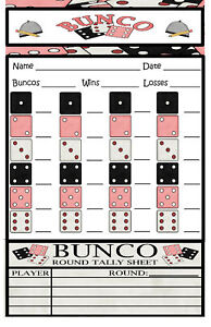 Crush image pertaining to cute bunco score sheets printable
