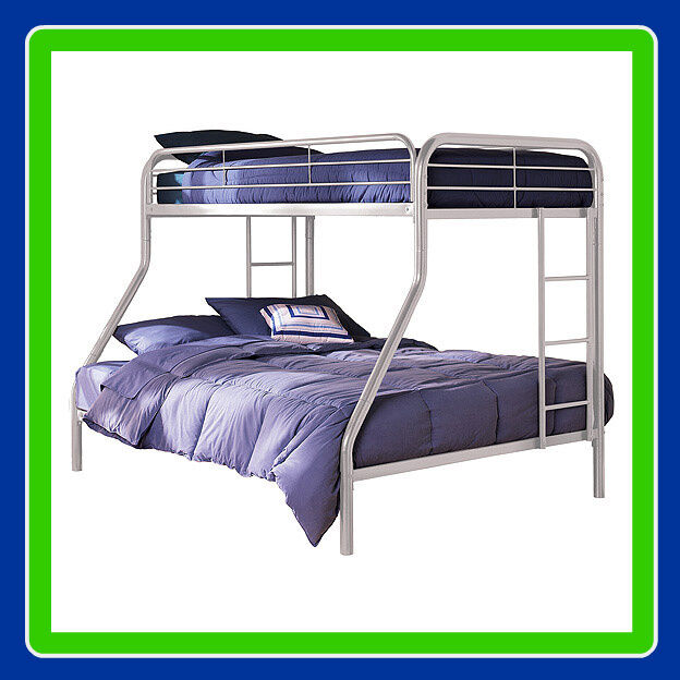 Twin Over Full Metal Bunk Bed Sturdy Frame Bunkbeds 30 Day Returns Brand New Ebay