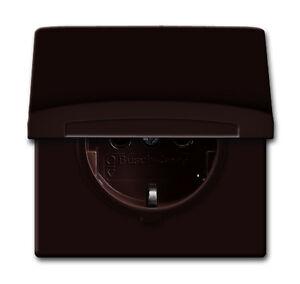 busch j ger allwetter 44 farbe braun steckdose 20eugk 31 101 ebay. Black Bedroom Furniture Sets. Home Design Ideas