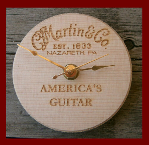 "C.F Martin & Co Guitar Acoustic Hole Cutout Branded Clock RARE 5"" across in Musical Instruments & Gear, Other 