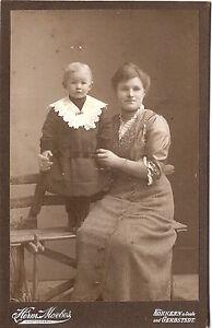 CAB-photo-Feine-Dame-mit-kleinem-Kind-Koennern-Gerbstedt-1900er