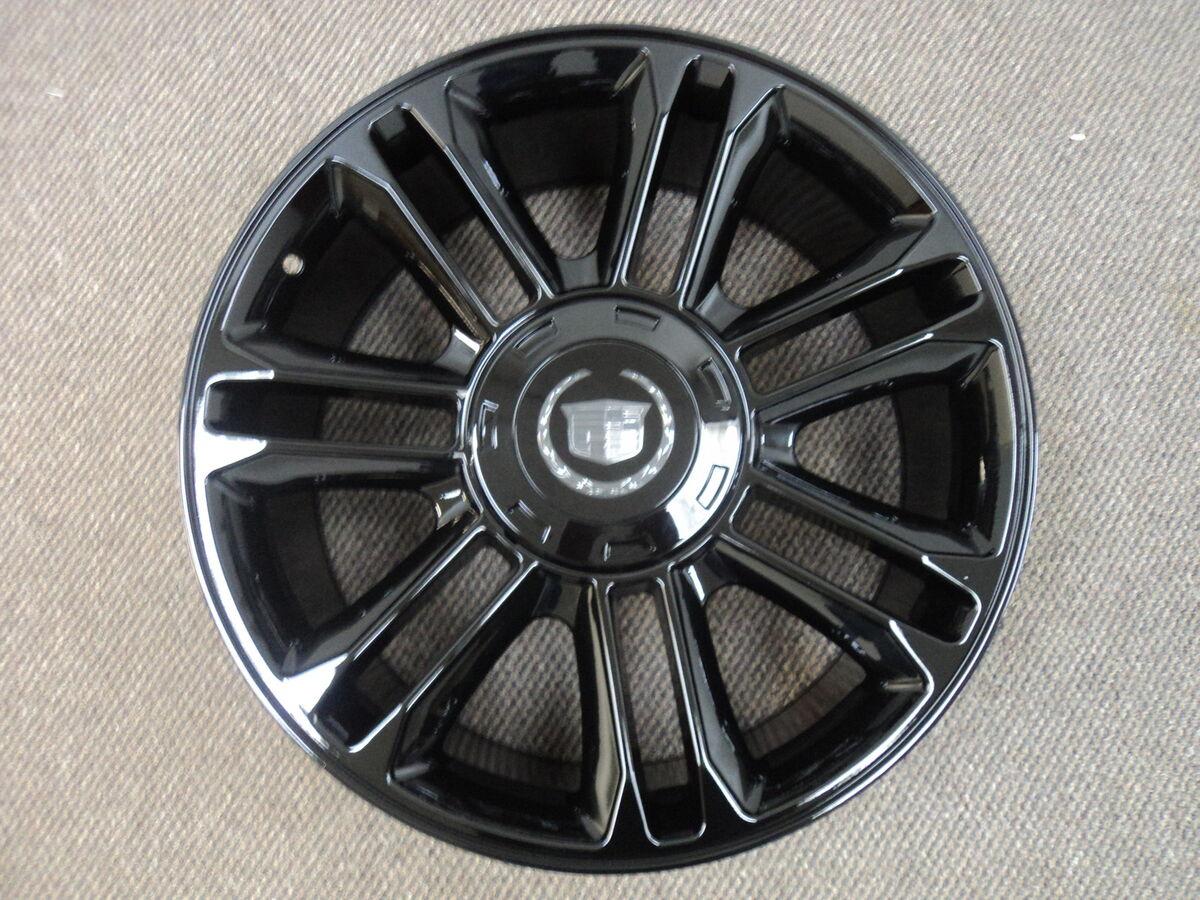 "Cadillac Escalade Platinum 24"" Glossy Black Set of 4 Replica Wheels Cap 24x9 5"