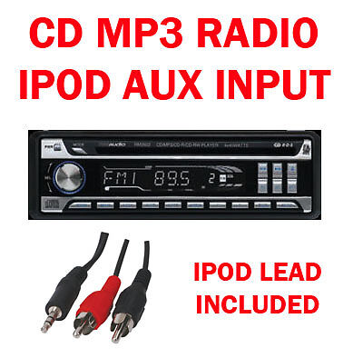 Car CD  Radio Stereo Player Tuner Head Unit Face Off iPod iPhone Aux In