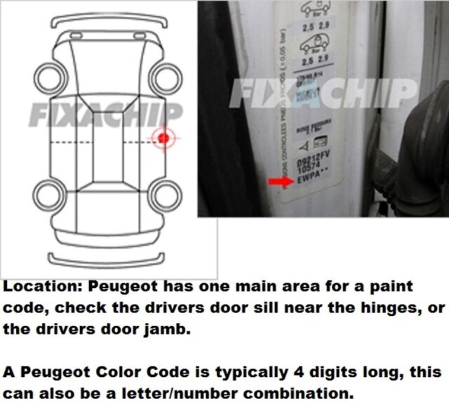 car touch up paint peugeot 4 all colours and years 107 308 3008407 607 807 rcz ebay. Black Bedroom Furniture Sets. Home Design Ideas