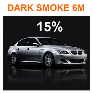 Car window tint film tinting kit 15 dark smoke 76cm x 6m for 15 window tint pictures