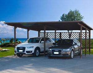 Carport 640x495 pergola tettoia in di legno auto copertura for Garage per 2 auto personalizzate
