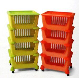Carrello da cucina in plastica porta tutto verde arancio - Carrello cucina mercatone uno ...