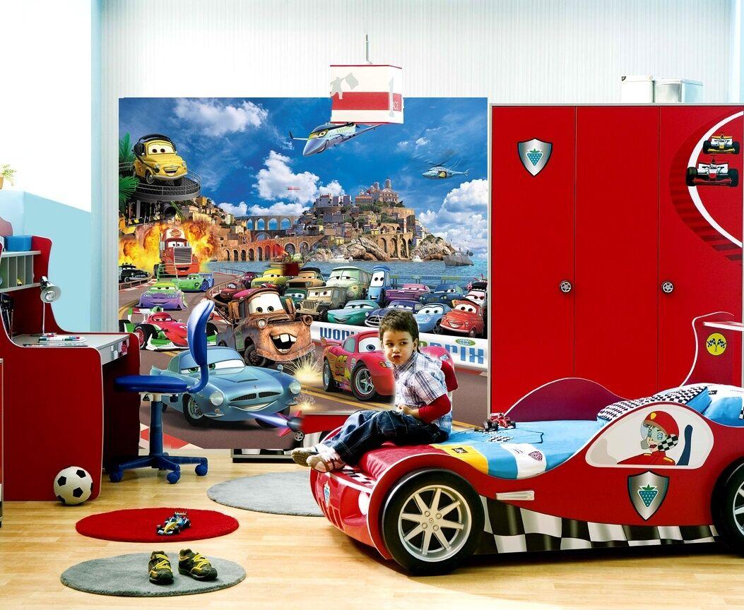 cars 2 kinder fototapete fototapeten tapete zimmer poster. Black Bedroom Furniture Sets. Home Design Ideas