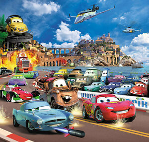 CARS-Kinder-Fototapete-210x200-cm-Tapete-Wandtapete-Kinderzimmer ...