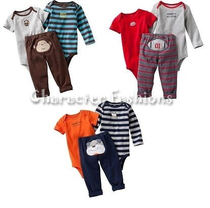 CARTERS 3 Piece Bodysuit Set Size 3 6 9 12 Months Boys Infant FOOTBALL in Clothing, Shoes & Accessories, Baby & Toddler Clothing, Boys' Clothing (Newborn-5T) | eBay