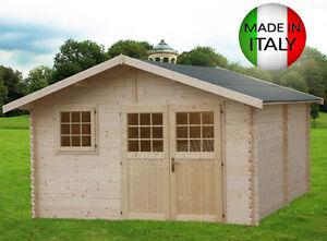 Casetta in di legno 437x439 34 mm blockhaus casette - Casette porta attrezzi da giardino ...