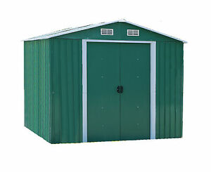 Casetta porta attrezzi box porta attrezzi da giardino in lamiera ebay - Porta attrezzi da giardino in legno ...