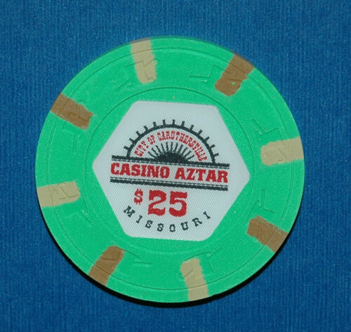 CASINO AZTAR, $25.00 CASINO CHIP, MISSOURI - NEW CONDITION, OBSOLETE CASINO CHIP in Collectibles, Casino, Chips | eBay
