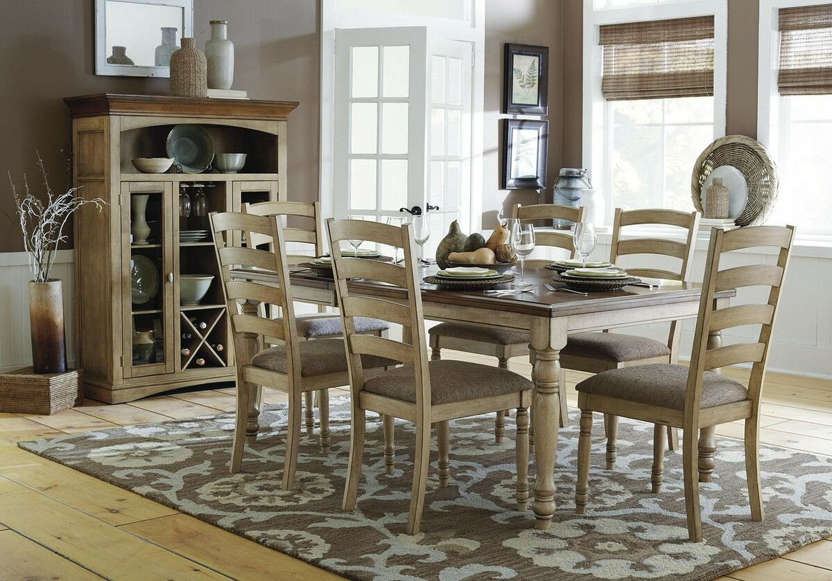 CASUAL COUNTRY SOLID WOOD DINING TABLE CHAIRS DINING ROOM FURNITURE