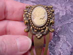 (CBT5-1) Victorian LADY mauve CAMEO BOOKMARK book mark BRASS books in Books, Accessories, Bookmarks | eBay