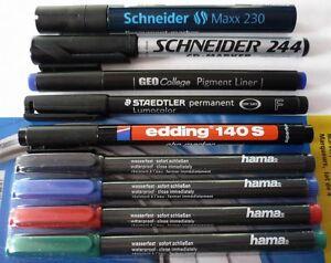 cd dvd pen folienstift stift fineliner marker schneider staedtler edding. Black Bedroom Furniture Sets. Home Design Ideas