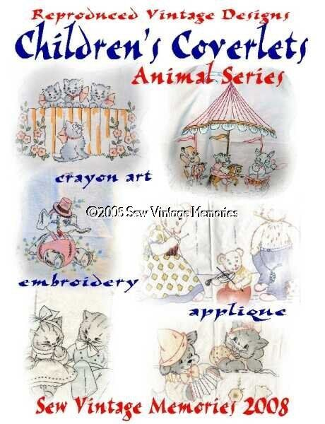 Cd Hand Embroidery Patterns Vintage Baby Quilt Vogart Era Crib Covers