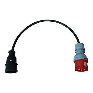 cee adapter cee16a stecker auf schuko kupplung starkstrom. Black Bedroom Furniture Sets. Home Design Ideas