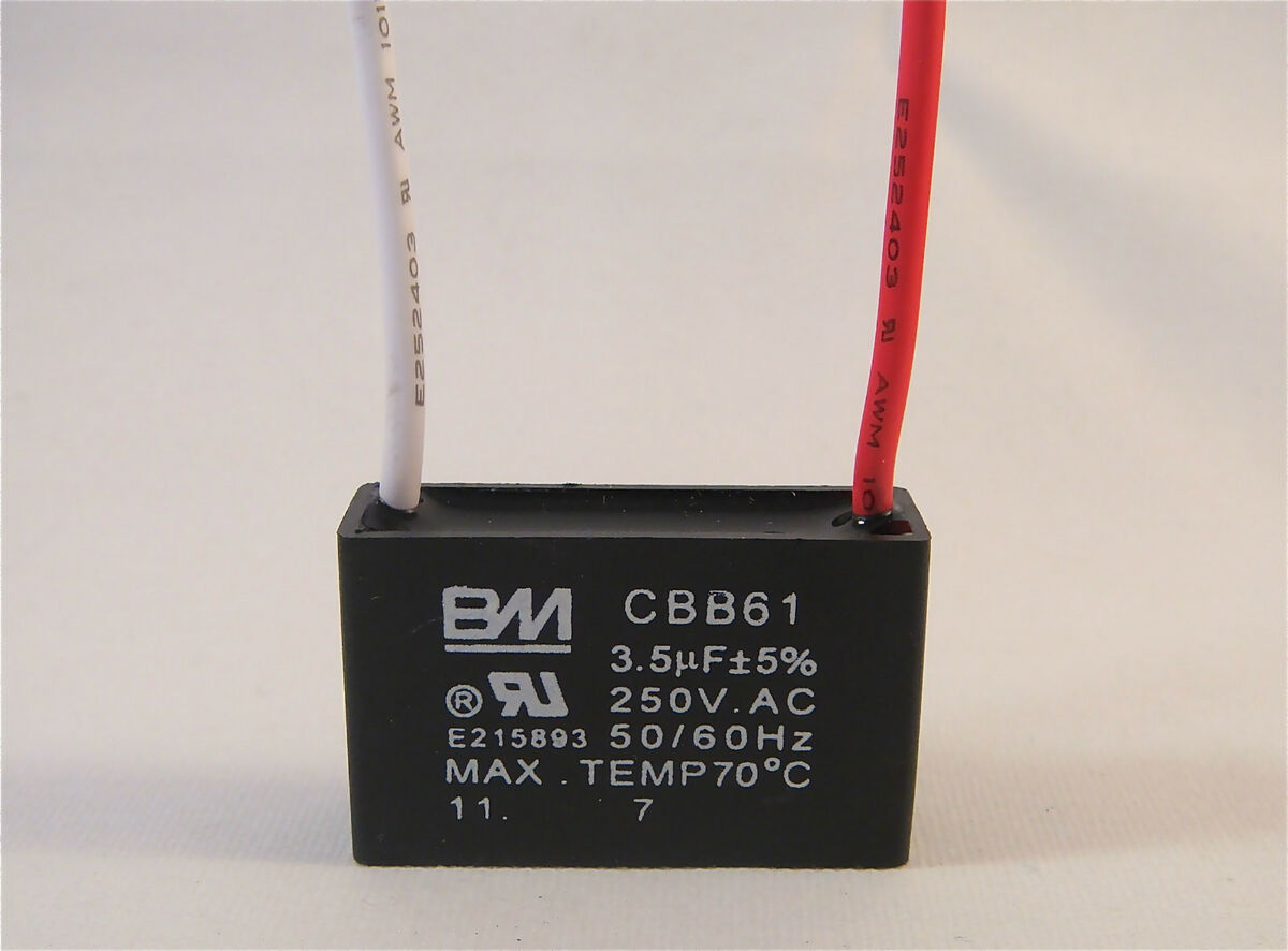 Ceiling Fan Capacitor Cbb61 3 5uf 2 Wire On Popscreen