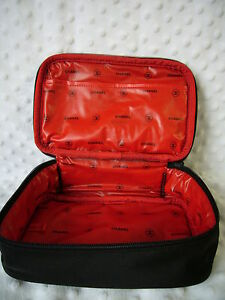 Travel Makeup  on Chanel Cosmetic Bag Makeup Travel Case Beautiful Black Red New   Ebay