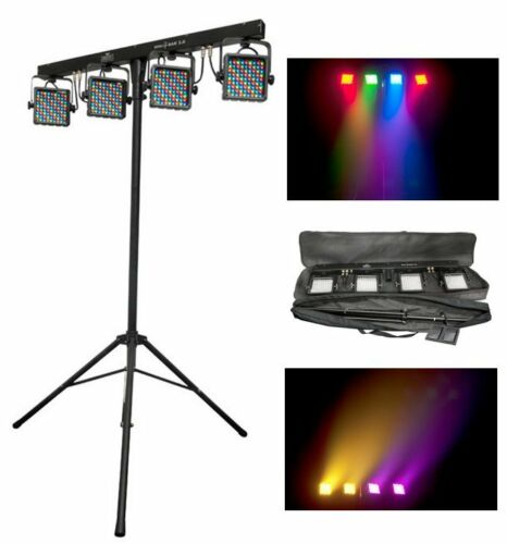CHAUVET MINI-4BAR 2.0 Mobile LED DJ Stage Wash Light System w/Tripod & Carry Bag in Musical Instruments & Gear, Stage Lighting & Effects, Stage Lighting: Single Units | eBay