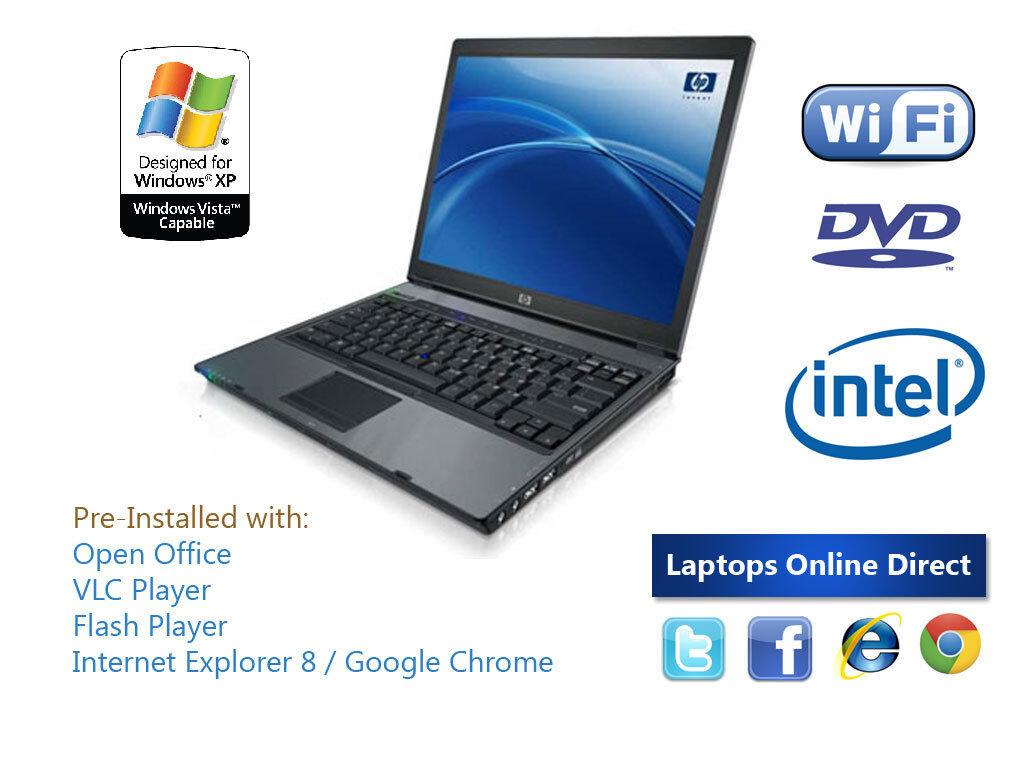 CHEAP FAST HP Compaq Laptop - 15inch Wireless DVD/CDRW Win XP Open Office