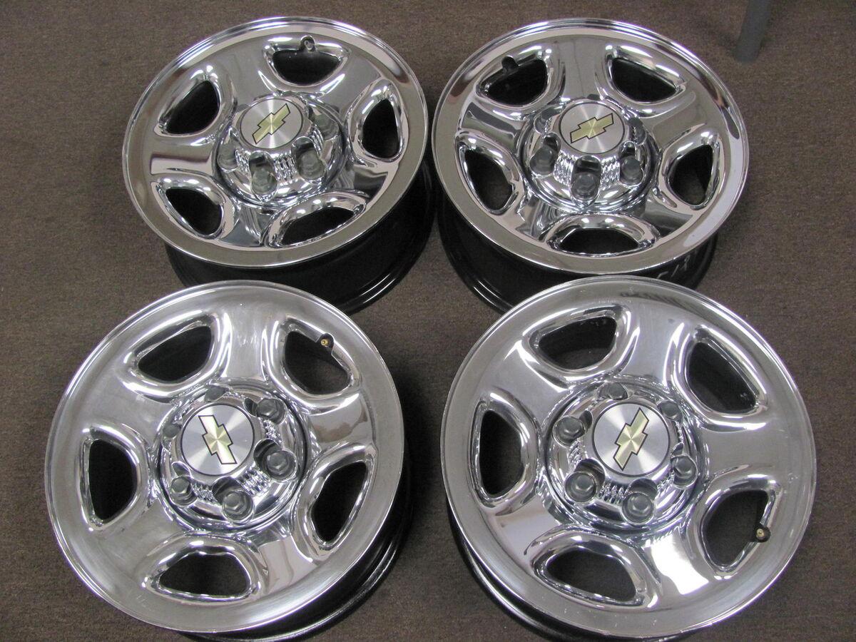 "Chevy GMC Truck Van 16""6LUG Factory Chrome Wheels Rims Centers 5129"