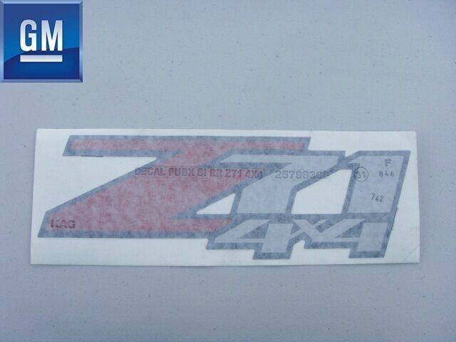 Chevy Silverado GMC Sierra 2007 2013 Z71 4x4 Truck Pick Up Bed Decal Sticker