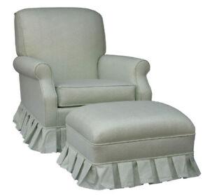 Glider Chairs on White Leaves Upholstered Glider Rocker Chair Baby Nursery New   Ebay